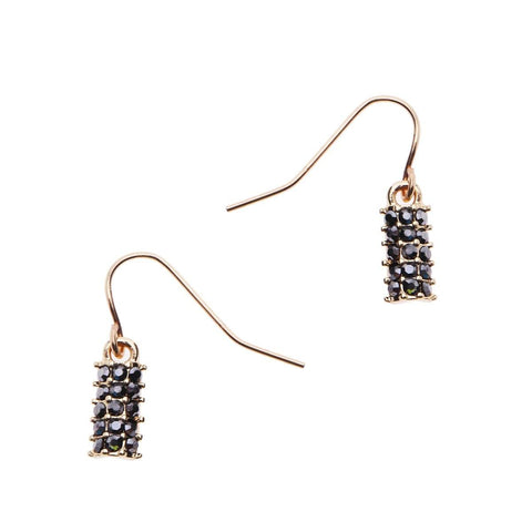 Dana Pave' Drop Earrings, Earrings, Nakamol, Nakamol - Nakamol Chicago Handcrafted Jewelry