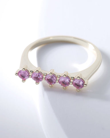 Raz Birthstone Ring - February, Rings, Nakamol, Nakamol - Nakamol Chicago Handcrafted Jewelry