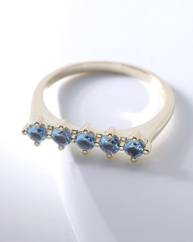 Raz Birthstone Ring - December, Rings, Nakamol, Nakamol - Nakamol Chicago Handcrafted Jewelry