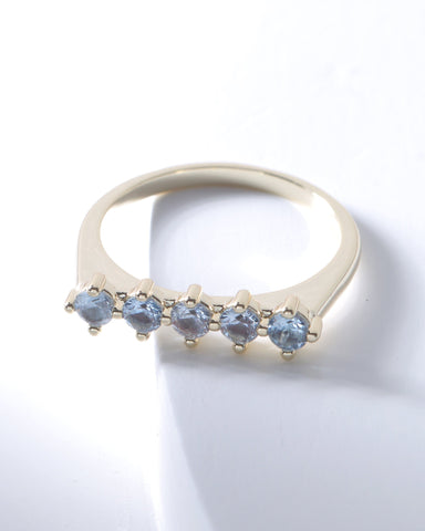 Raz Birthstone Ring - March, Rings, Nakamol, Nakamol - Nakamol Chicago Handcrafted Jewelry