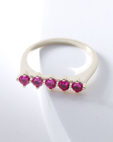Raz Birthstone Ring - July, Rings, Nakamol, Nakamol - Nakamol Chicago Handcrafted Jewelry