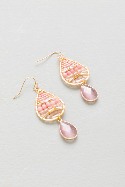 Justine Pink Drop Earrings*