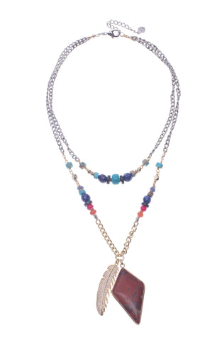 Avana Layer Necklace, Necklaces, Nakamol, Nakamol - Nakamol Chicago Handcrafted Jewelry