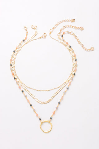 Danielle Triple Layer Necklace, Necklaces, Nakamol, Nakamol - Nakamol Chicago Handcrafted Jewelry