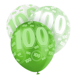 Happy 100th Birthday 12 Pearlized Printed Latex Balloons