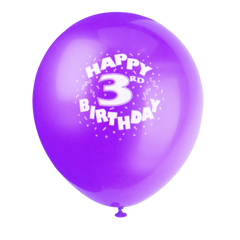 Happy 3rd Birthday Printed Balloons