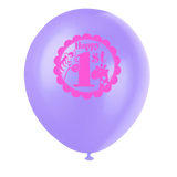 Latex Pink Safari First Birthday Balloons