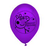 Peppa Pig HAPPY BIRTHDAY Party Printed Latex Balloons