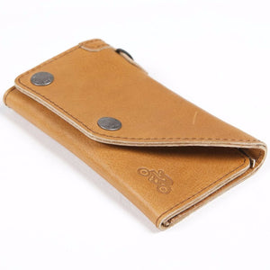 Helstons Motorcycle Accessories Hand Sewn Leather Biker Wallet -Tan