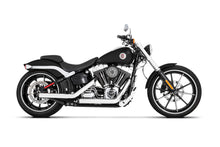 "3"" Softail Slip-Ons Chrome with Black Straight End Cap - Fitment 1"
