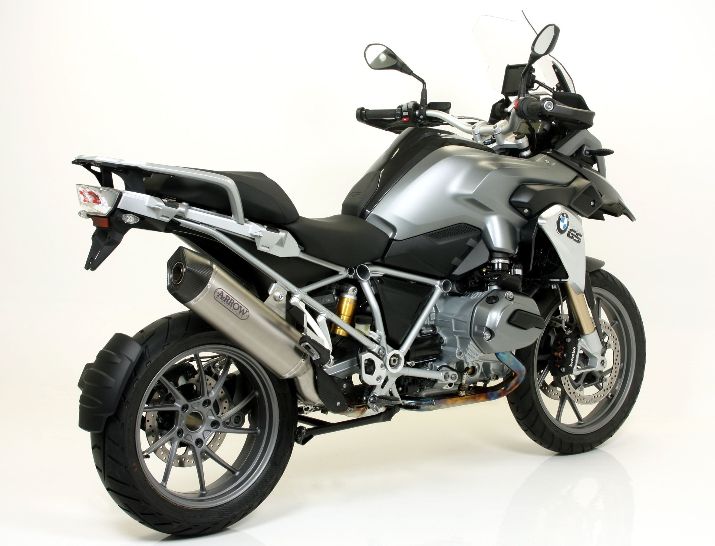 Arrow exhaust for 2013-2018 BMW R1200GS/GSA TITANIUM