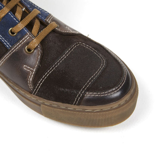 Helstons Basket Sport C2 calfskin and split crust motorcycle leather Shoe