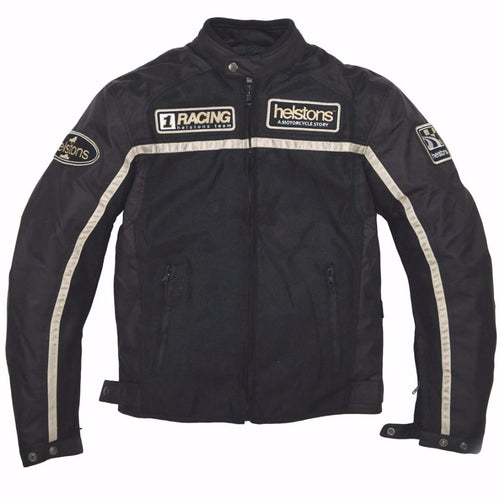 Helstons DAYTONA Mesh fabric motorcycle Jacket in BLACK
