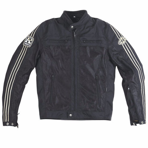Helstons WALL Mesh fabric motorcycle Jacket in Black