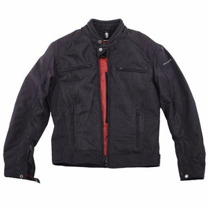 Helstons DISTRICT Men's black Mesh fabric motorcycle jacket