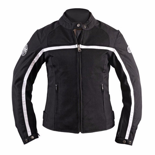 Helstons DAYTONA Women's black Mesh fabric motorcycle jacket