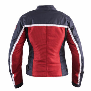 Helstons DAYTONA Women's Red-Blue Mesh fabric motorcycle jacket
