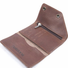 Helstons Motorcycle Accessories Hand Sewn Leather Biker Wallet - Brown