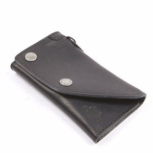 Helstons Motorcycle Accessories Hand Sewn Leather Biker Wallet - Black