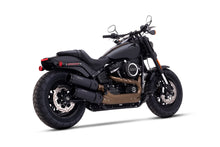 "2018 Milwaukee Eight - 107 Fat Bob - 4.5"" Slip-Ons Black with Black End Caps"