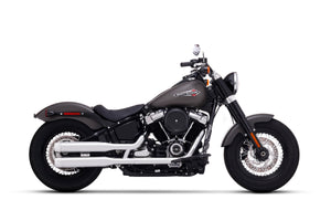 "2018 Milwaukee Eight - 107 Fatboy - 3.5"" Slip-ons Chrome with Chrome End Caps"