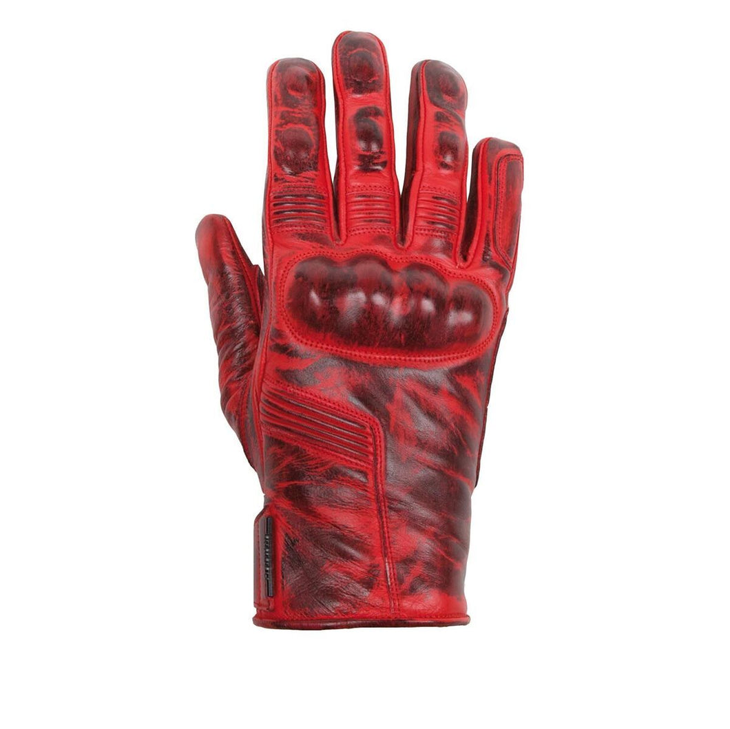 Helstons LIGHTNING Summer Women leather gloves - Red