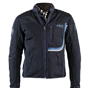 Helstons SONNY Mesh fabric motorcycle Jacket in Blue