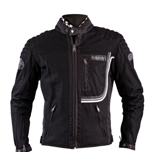 Helstons SONNY Mesh fabric motorcycle Jacket in Black