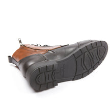 Helstons TRAVEL black-tan motorcycle leather shoes