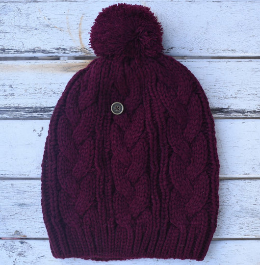 Fallen Broken Street The Consciousness kids Burgandy Beanie
