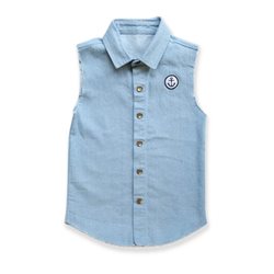 Denim sleeveless shirt