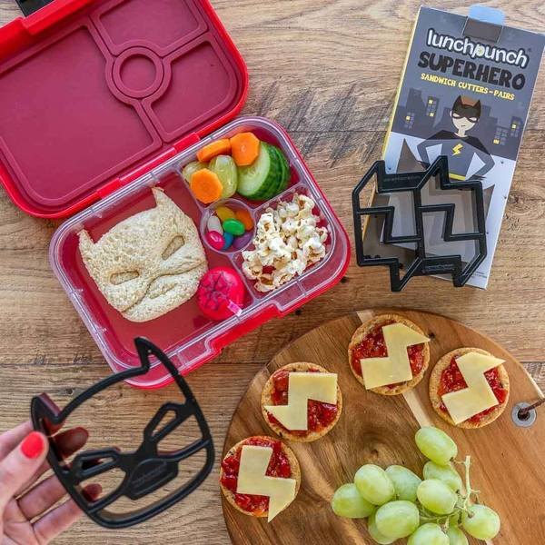 MontiiCo Lunch Punch Sandwich Cutters Superhero