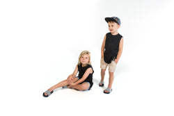 Fred & Brooks Black Singlet with velvet