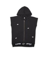 Eyes in the dark sleeveless hood