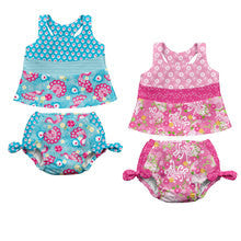 Pink Tankini Swimming Costume Set