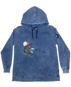 Band of Boys Jumper Shouting Lion A-Line Hood Vintage Blue