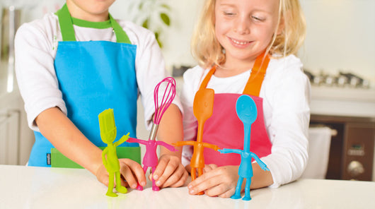 My Little Helpers Kids Kitchen Apron and Utensil Set Pink/Orange Apron
