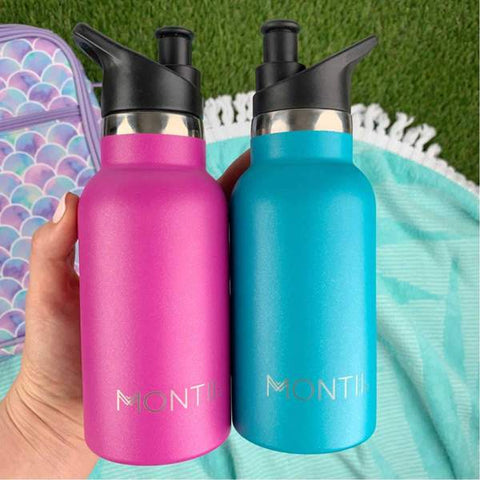 MontiiCo Mini Drink Bottle Aqua Glitter