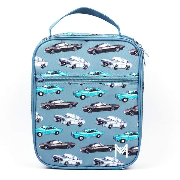 MontiiCo Insulated Lunch Bag Cars