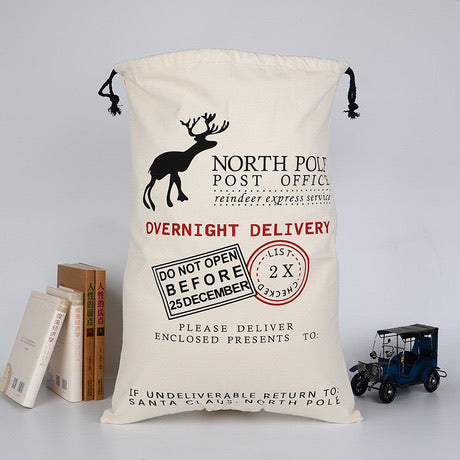 Overnight Delivery Stamp Santa Sack personalised