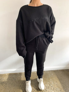 Society Addict Logo Jumper Black