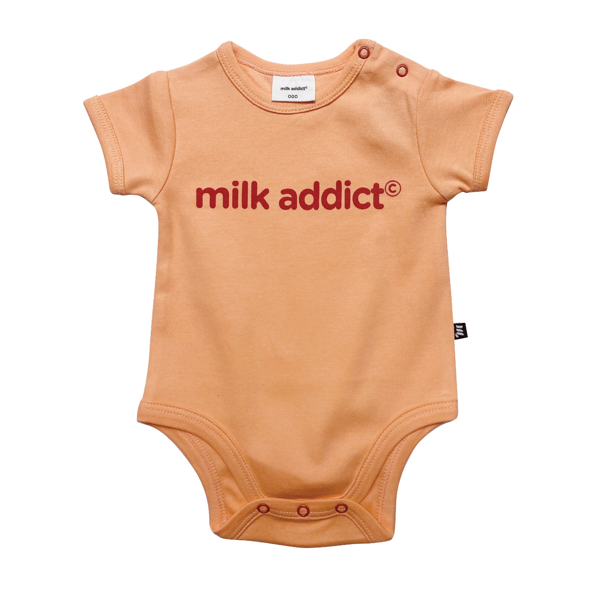 Upcycled - Milk Addict Peaches bodysuit