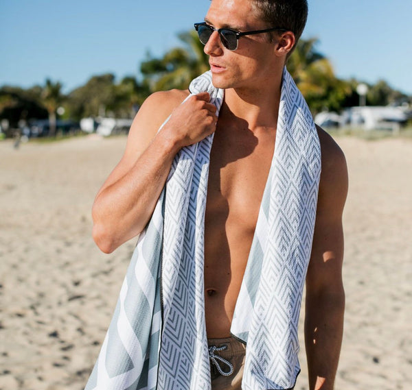 The Surfers Grey Beach Towel