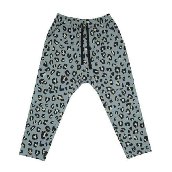 Grey Leopard Low Crotch Zuttion track pants