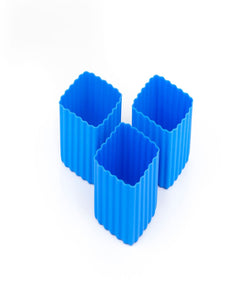 Bento cups blue square