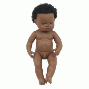 Miniland Doll African Boy 38cm (Undressed)