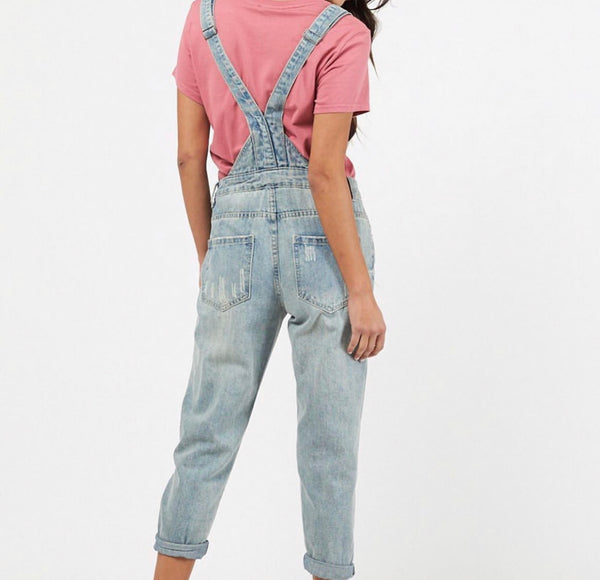 Ladies denim overalls