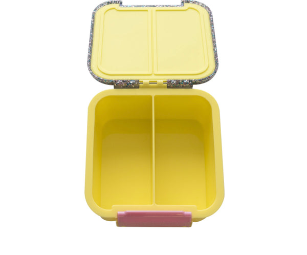 Bento Two - Yellow Glitter Lunch Box