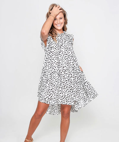 Black white cheetah dress