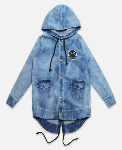 Beau Bella Acid Wash Parker Jacket